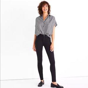 "NEW Madewell 9"" high rise skinny black pants"